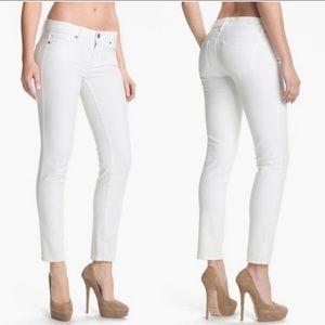Paige Skyline Ankle Peg Optic White Jeans Sz 30